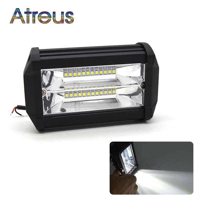 Atreus New 5Inch 72W Car LED Work Light Bar 12V Spotlight 6000K For Ford ranger mondeo mk4  Infiniti Cadillac Alfa Romeo 159 147