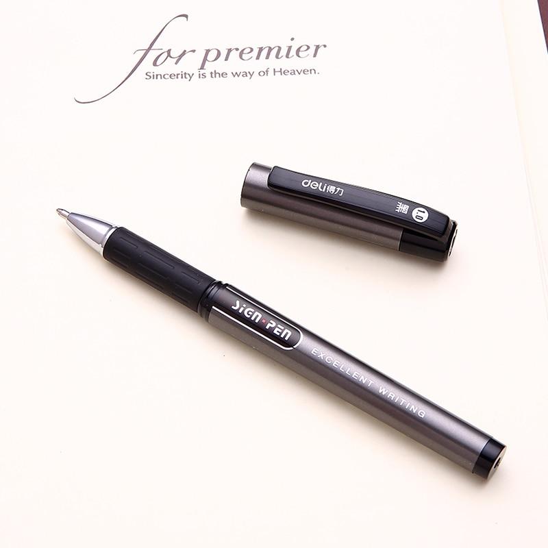 Bolígrafos de Gel, Bold Point, tinta negra, 1,0mm, plumas para firma