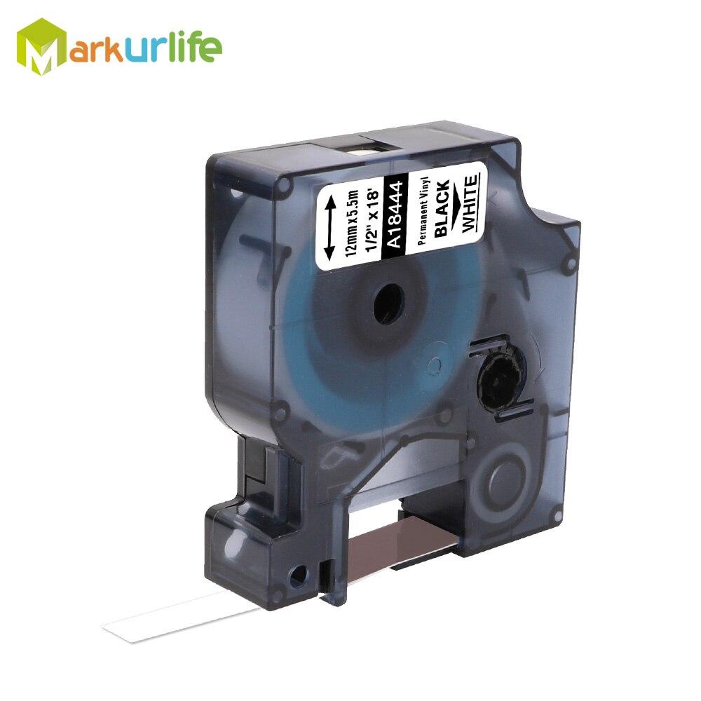 1 paquet 18432 18435 18438 18444 Compatible pour DYMO rhinocéros IND vinyle Label 18441 1805435 1805243 pour Dymo rhinocéros 4200,5000,5200