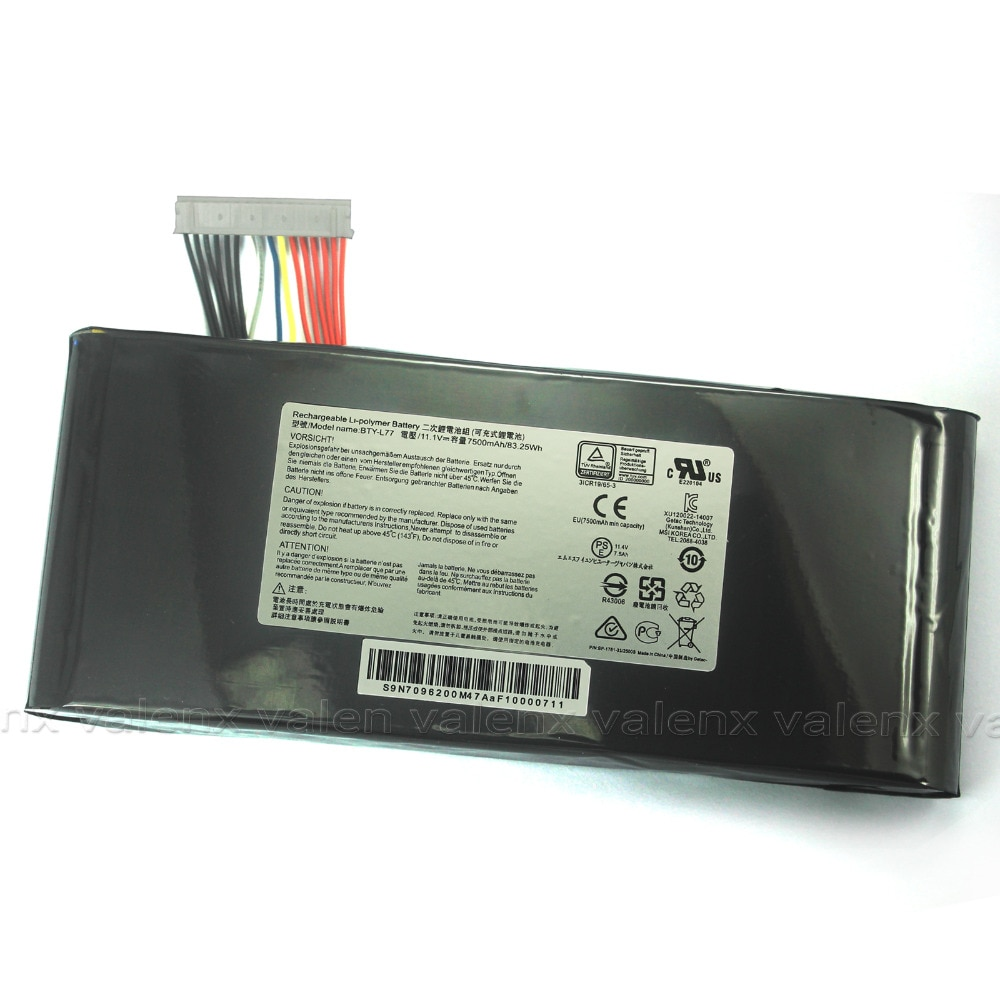 BTY-L77 bateria Para MSI GT72 2PE-022CN 2QD-005XCN 2QE-1679CN 6QD-005XCN 6QE-007CN 6QF-054CN GT72S Tobii