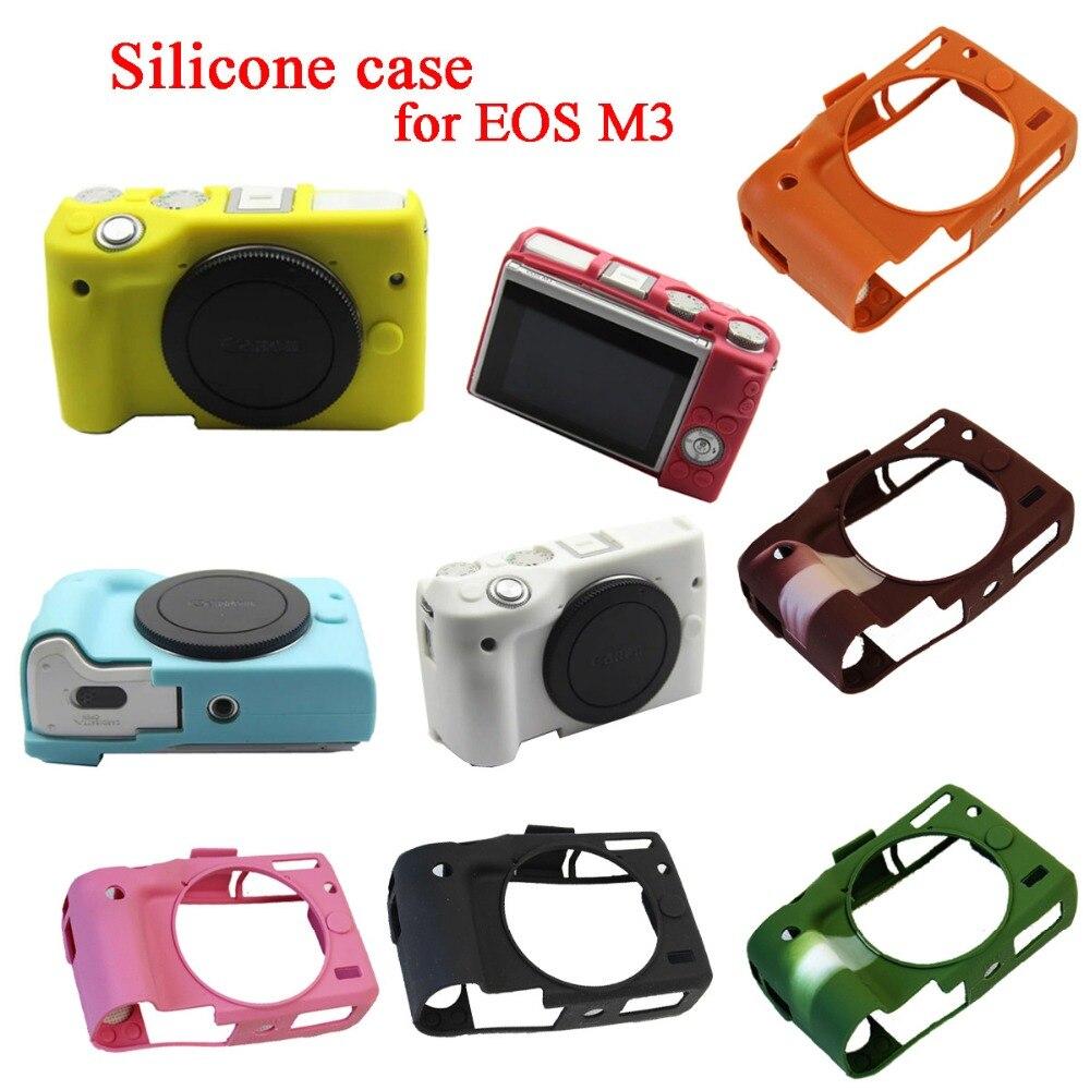 Nice Soft Silicone Rubber Camera Body Cover Case Skin Camera case bag for Canon EOS M3 EOSM3