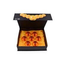 7 unids/set 3,5 cm Anime Dragon Ball 7 estrellas bolas de cristal naranja Dragonball PVC modelo de juguete para niños regalo de Navidad