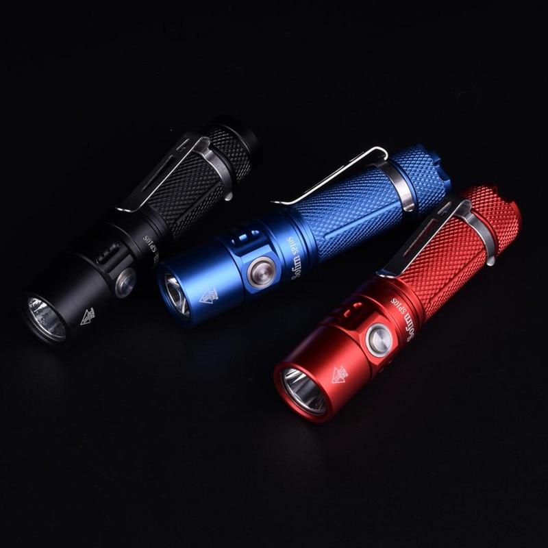 Sofirn sp10a SP10B Мини светодиодный фонарик АА 14500 карман свет CREE XPG2 573lm брелок свет Водонепроницаемый Фонари красный синий Linterna