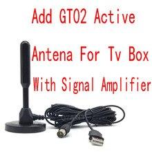Built in signal amplifier power antenna New Dual signal amplifier indoor antenna dvb-t2/atsc-t/isdb-t/fm digital tv receiver