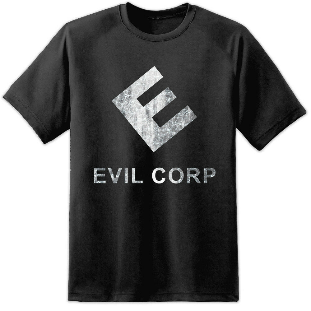 Camiseta de estilo de logotipo de Mr Robot-Evil Corps
