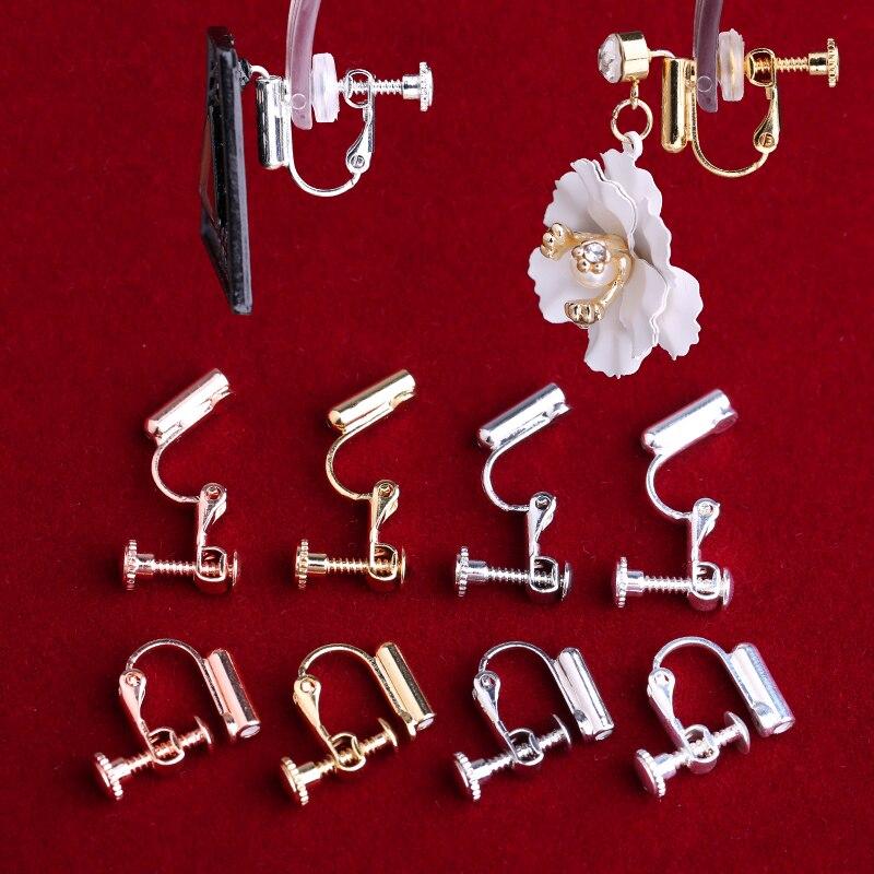 Espiral em forma de u orelha clipe ajustável invisível evitar alergia indolor tipo clipe perfurado feminino diy brinco acessórios