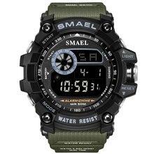 New Led Digital Watches SMAEL Men Big Dial Sport Watch Running 50M Waterproof LED Clock Digital Watc