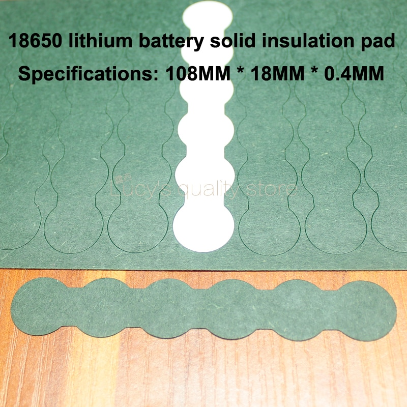100pcs/lot Lithium Battery Accessories Solid Insulation Pad 6s Series 18650 Indium Paper Surface Mat Meson