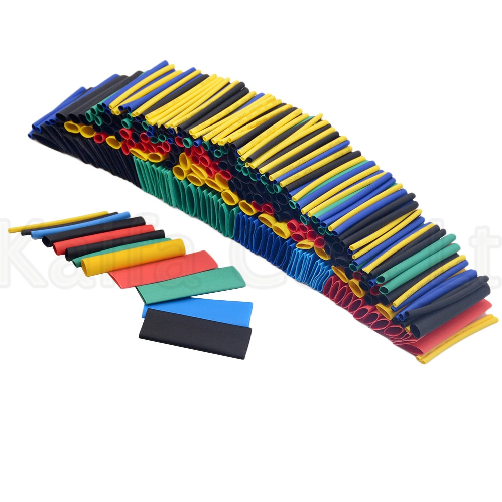 280 Uds 12 tamaños Tubo termorretráctil de poliolefina multicolor tubo de manga surtido de manga Kit de envoltura de alambre Kits de tubos