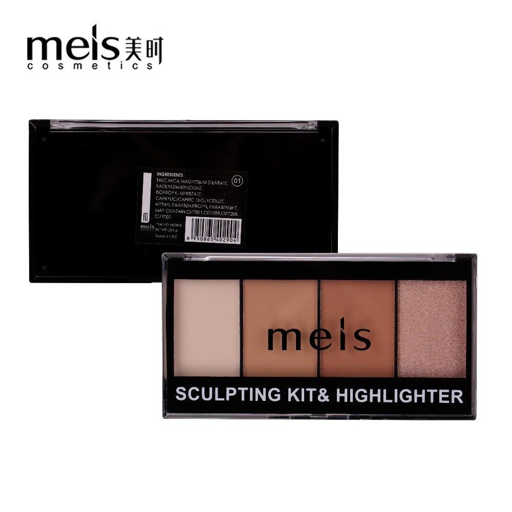 MEIS bronceadores resaltador polvo paleta cara contorneado Corrector Fundación Primer cosmético 3D maquillaje Corrector contorno 0430