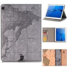 Case For Huawei MediaPad M3 Lite 10 BAH-W09 BAH-AL00 10.1 inch Luxury world map Business Smart pu leathr Cover Funda Tablet