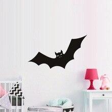 Halloween Fledermaus Vinyl Wand Aufkleber Lustige Cartoon Tier Wand Abziehbilder für Kinder Zimmer Schlafzimmer Wohnzimmer Wohnkultur DT3425