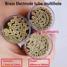 Multihole Messing Elektrode Tube 4 Gaten Diameter 1.5mm-3.0mm Lengte 400mm voor WEDM Boormachine