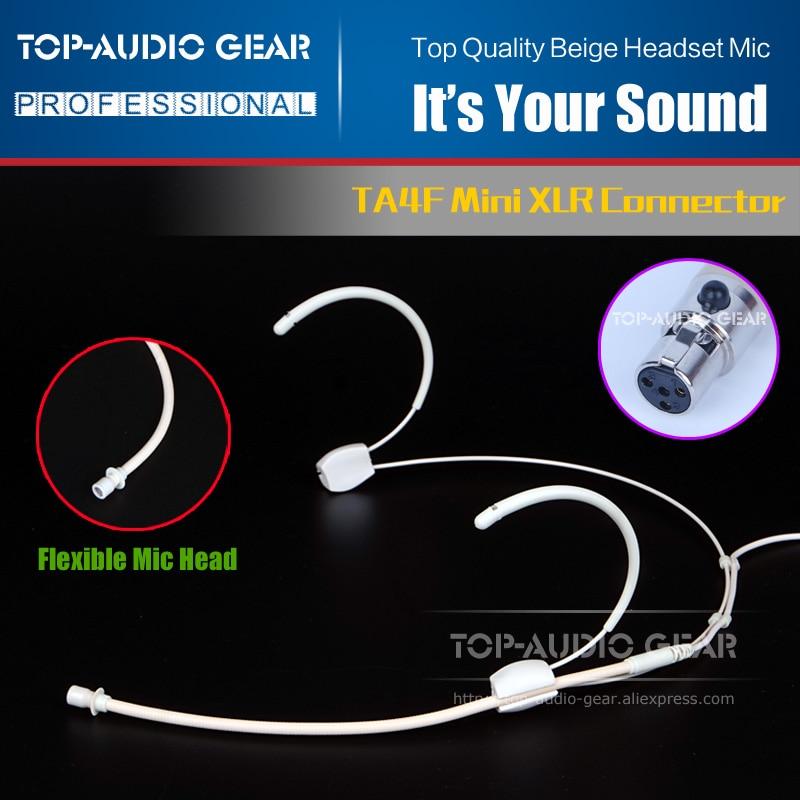 Auriculares de diadema color Beige para sistema de micrófono inalámbrico SHURE LX UC U 1 UR PGX ULX QLXD 1 Bodypack