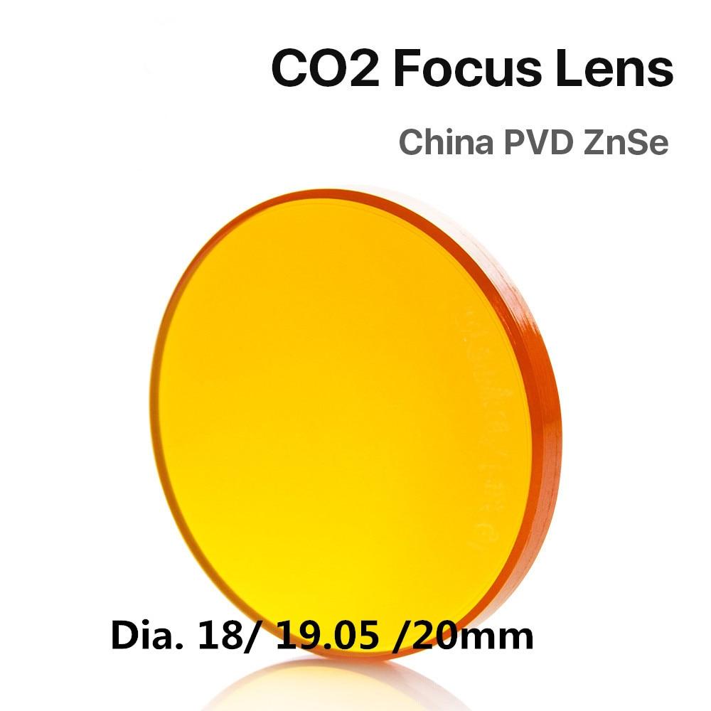 "China znse lente de foco diâmetro. 20mm fl 38.1-127mm 2.5 ""para a máquina de corte da gravura do laser do co2 por outro transporte"