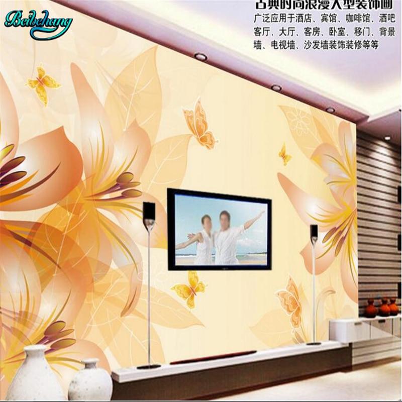 Beibehang ensueño flor salón sofá TV telón personalizado grande no tejida papel pintado mural Decoración de casa