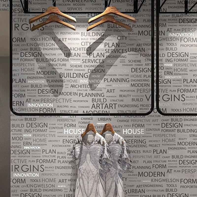 Обои с английским алфавитом современные минималистичные индивидуальные обои кафе бар ресторан ретро магазин женской одежды роспись Декор