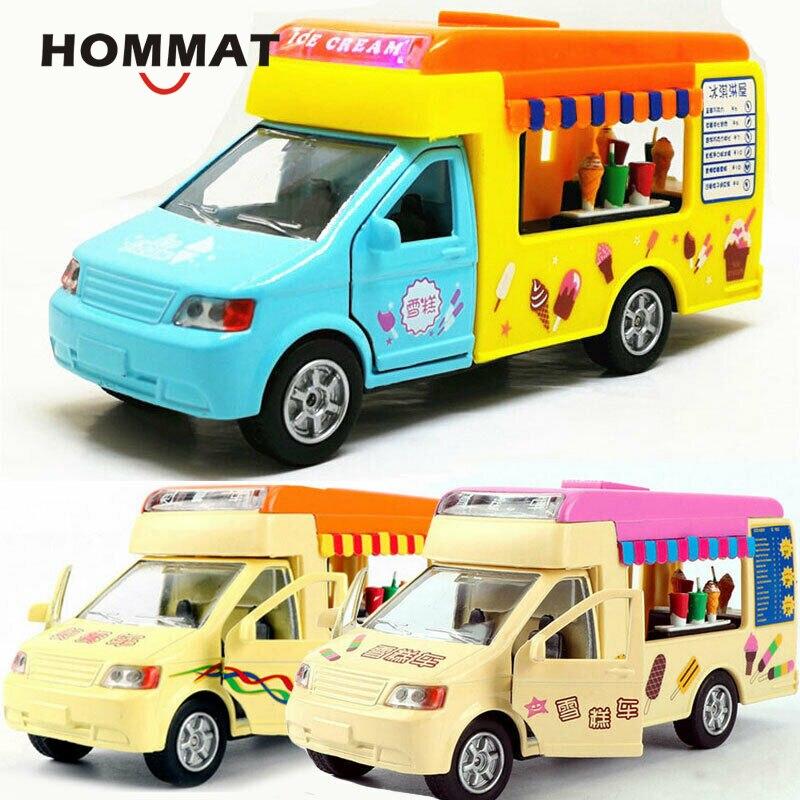 HOMMAT Simulation 132 Taco Fast-Food Hot Dog Eis Lkw Auto Modell Legierung Diecast Spielzeug Fahrzeug Auto Modell Spielzeug für Kinder
