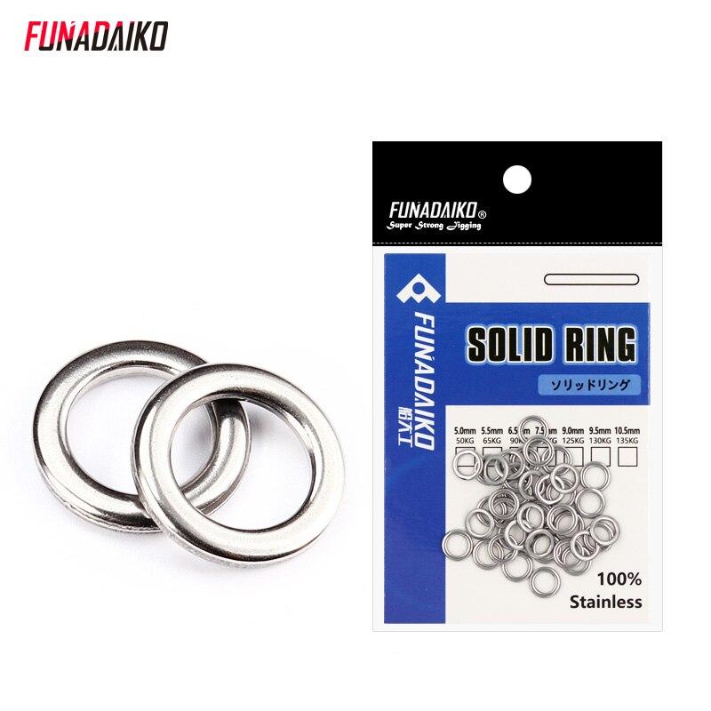 FUNADAIKO рыболовное кольцо из нержавеющей стали, уплотнительное кольцо, плоская рыболовная приманка с поворотным узлом, двойная петля, быстрое изменение, разделенное кольцо для рыбалки