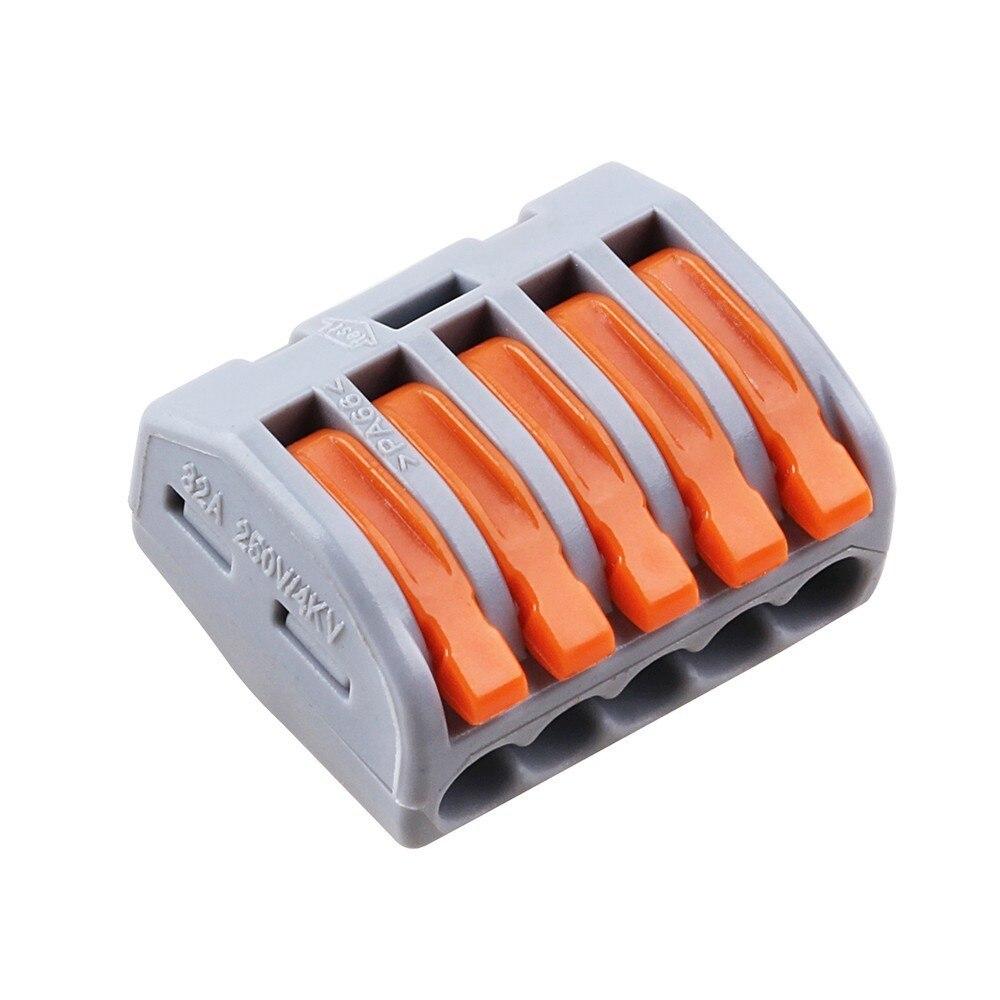 (40 pçs/saco) 5 pin universal compact fio conector Do fio do Terminal conector bloco 415A 5 fio conector para rápida