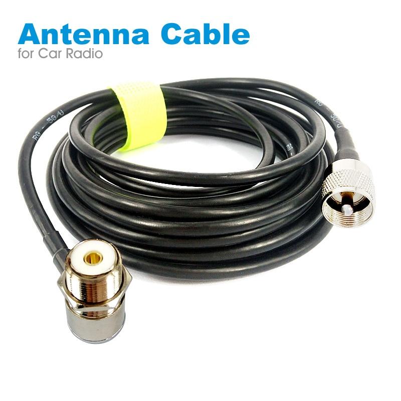Антенный соединитель PL259, коаксиальный удлинитель, кабель SO239 5 м 16 футов, УВЧ для автомобильной радиостанции MP320 MP9000 KT-8900 KT-8900R