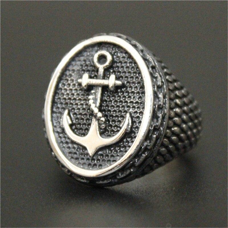 Поддержка Прямая поставка размер 7-14 золотой серебряный черный цвет Якорь Кольцо 316L нержавеющая сталь модное стальное кольцо