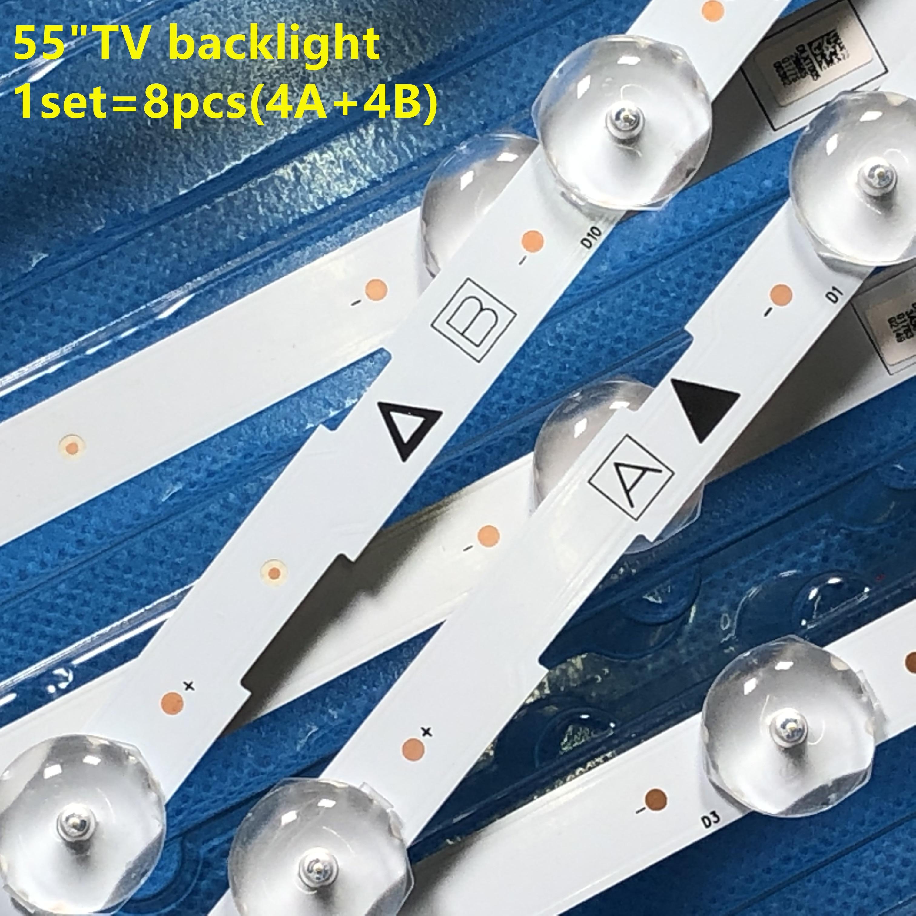 New Kit 8PCS(4A+4B)  LED backlight strip for 55PFL5601 55W5S1P 55W6S1P LB55084 VDULEDLXT006 VDULEDLX