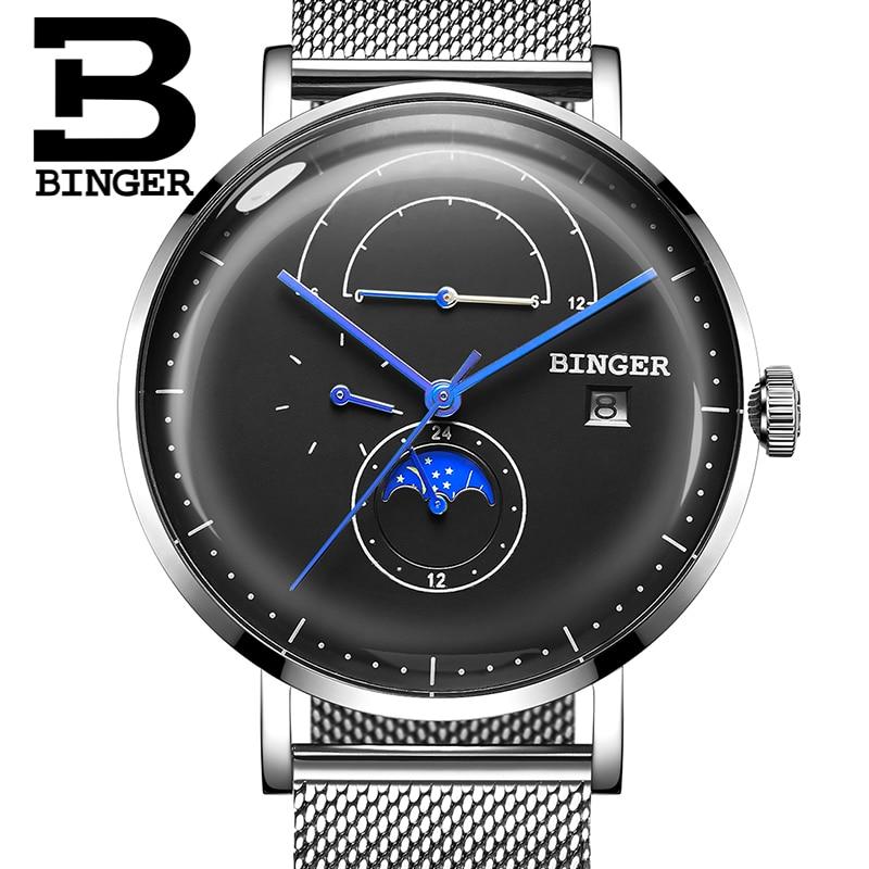 Switzerland BINGER Men's Watches Luxury Brand Automatic Mechanical Men Watch Sapphire Male Japan Movement reloj hombre B8610-9