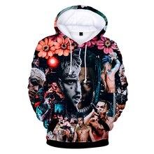 Hot Rapper XXXtentacion 3D Cool Hoodies Sweatshirts  Lil Peep 3D Boy/Girl Long Sleeve Fashion Hoodies Hip Hop Loose Hoodies