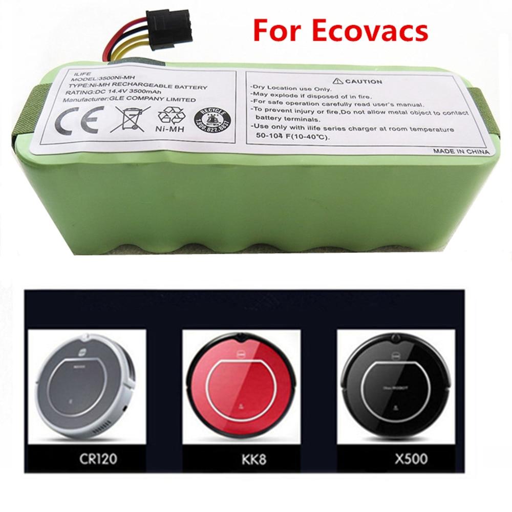 Para Ecovacs CR120 Dibea Panda X500 X580 Kk8 Robot de barrido Haier 14,4 V 3500mAh NI-MH batería de aspiradora recargable