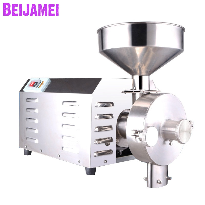 بيجامي-مطحنة كهربائية للحبوب الجافة ، مطحنة دقيق صناعية تجارية ، آلة طحن للحبوب والأعشاب