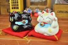 Lucky Mini Cat Piggy Bank Signify Budget Saving Money Coin Box Ceramic Sets