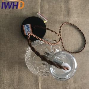 IWHD Modren Pendant Lights LED Fashion Glass Hanging Lamp For Bedroom Simple Indoor Lighting Pendant Light Fixtures Luminaire