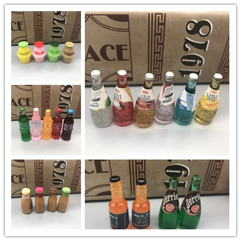 Cabujón de resina de soda para álbum de recortes, casa de muñecas, cóctel, leche, fruta, zumo en miniatura, novedad Kawaii