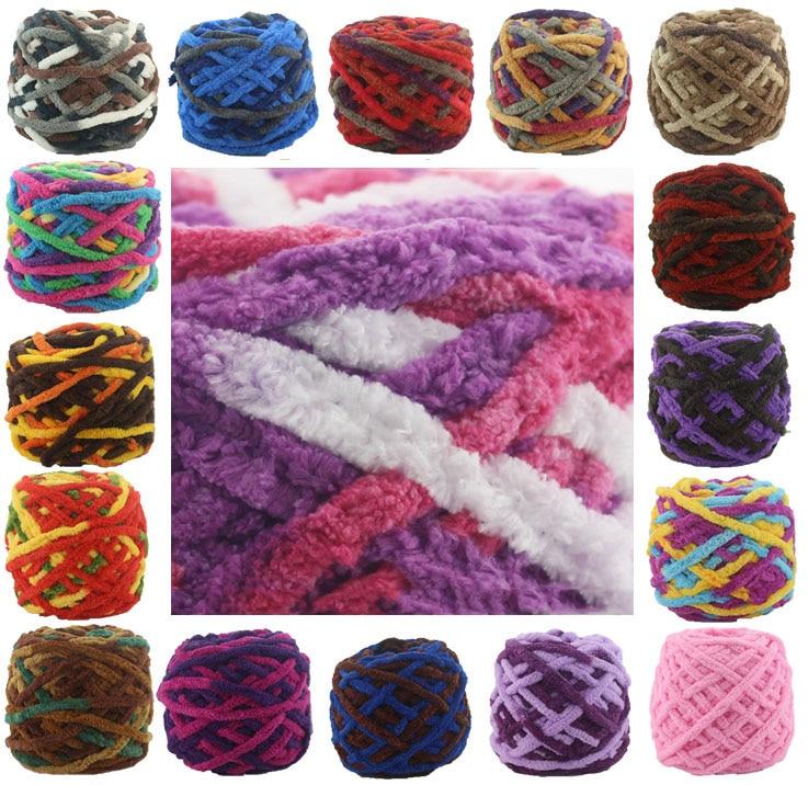 Цветной краситель шарф ручная вязка пряжа для ручного вязания мягкая молочная хлопчатобумажная пряжа плотная шерстяная пряжа гигантское шерстяное одеяло