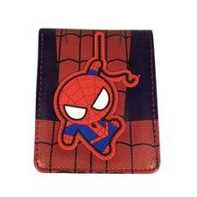 Marvel Spiderman Purse Lovely Cartoon Anime Short Wallets carteira Captain America Deadpool Batman Flash Leather Short Wallet