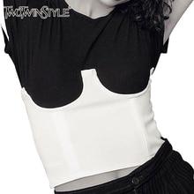 Twotwinstyle корсет для Для женщин стимпанк Костюмы Бюстье лиф сексуальный корсет женский грудью crosets верхняя одежда новый