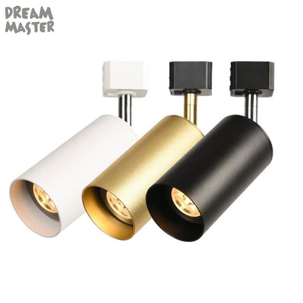 1pcs LED Track Light, GU10 Rail Spotlights Lamp, Leds Tracking Fixture, Spot Lights Bulb for Store Shop Showroom Adjustable lamp