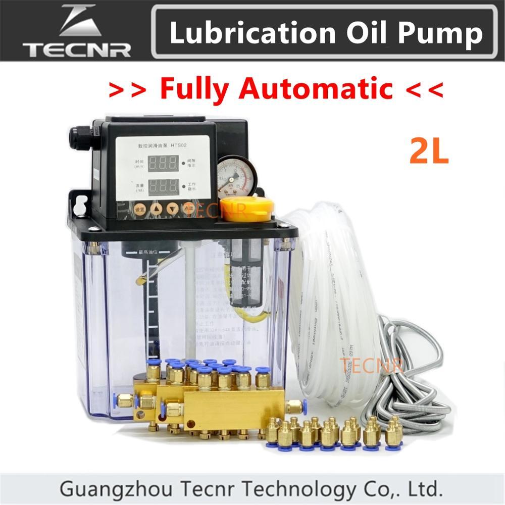 Full set CNC Automatic Lubrication oil pump 2L digital electronic timer gear pumps for cnc machine TECNR