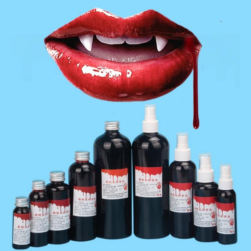 Disfraz de Halloween sangre falsa ultra realista/simulación de dientes humanos de vampiro hematopoyetic/accesorios vómitos comestible Pulpbtmv