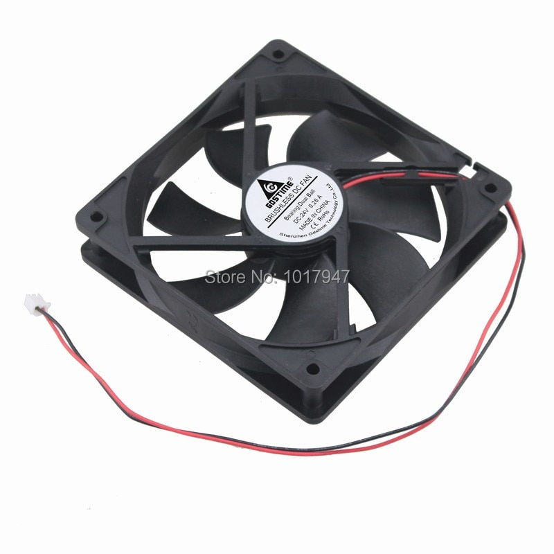 2Pcs Lot Gdstime 24V 2Pin 12cm 120mm 120mm x 25mm Ball PC Fan Cooler Heatsink Exhaust