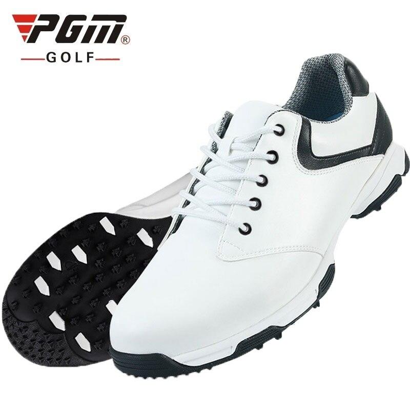 Pgm para hombre zapatos de Golf impermeables transpirables con cordones zapatos deportivos al aire libre clavos antideslizantes zapatillas de Golf cómodas AA10092