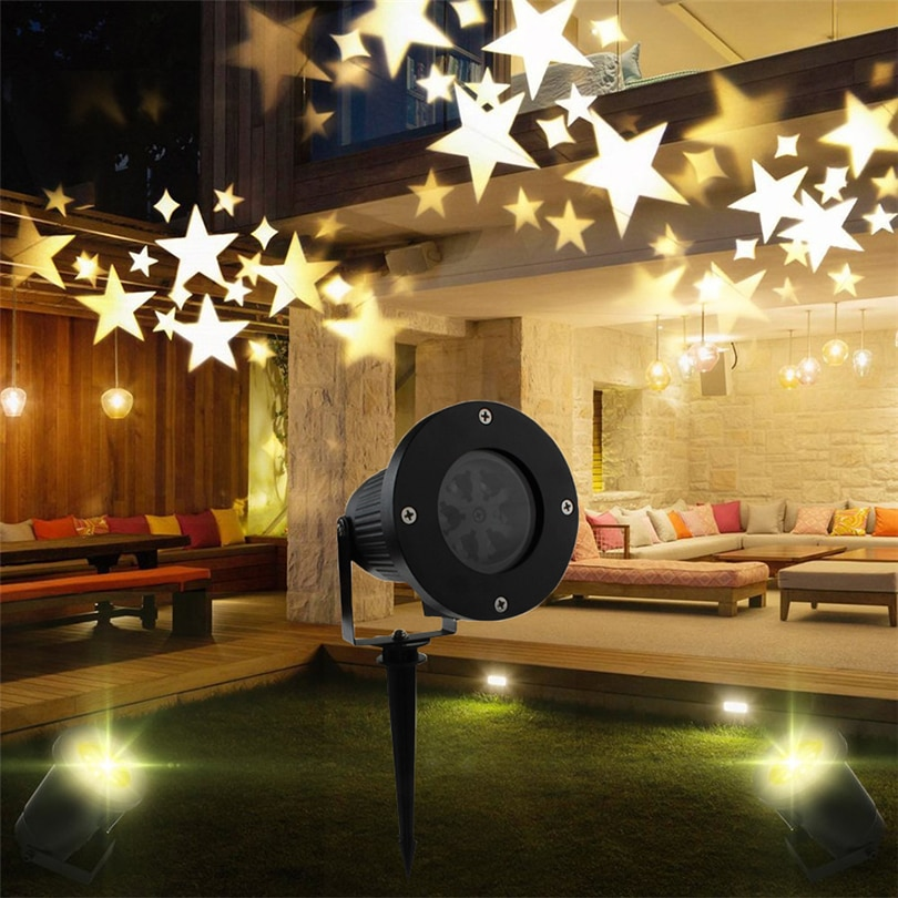 Outdoor Moving Sky Star Christmas Xmas Laser Projector lamp Party Disco DJ Laser Stage Effect Light Landscape Lawn Garden lamp outdoor solar garden lawn stage effect light fairy sky star laser projector waterproof landscape garden christmas decor lamp