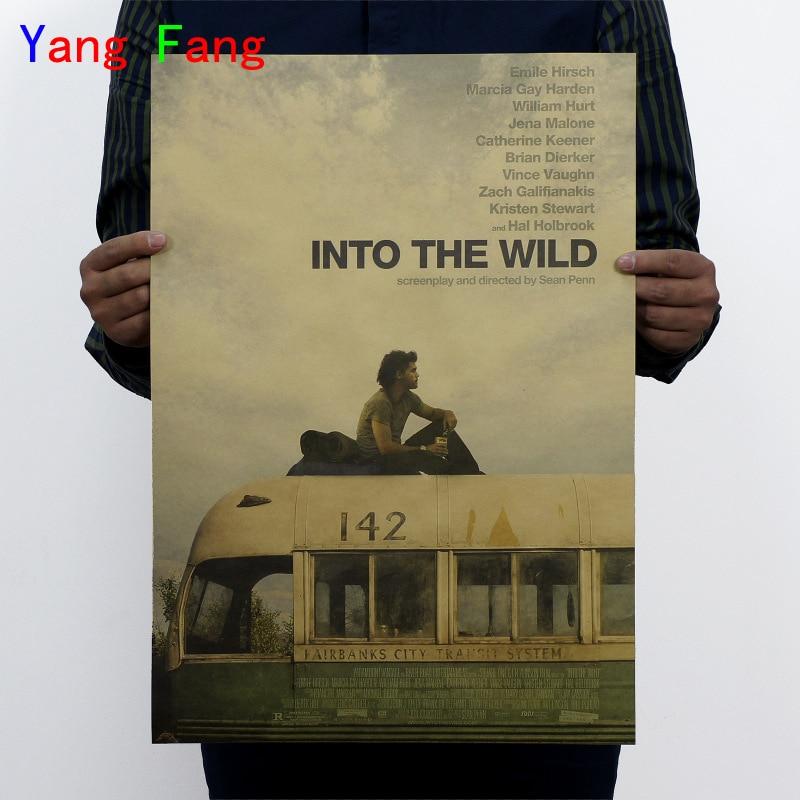 Into the Wild/ nostalgia retro posters/ classic movie vintage Kraft poster painting core 51x35cm