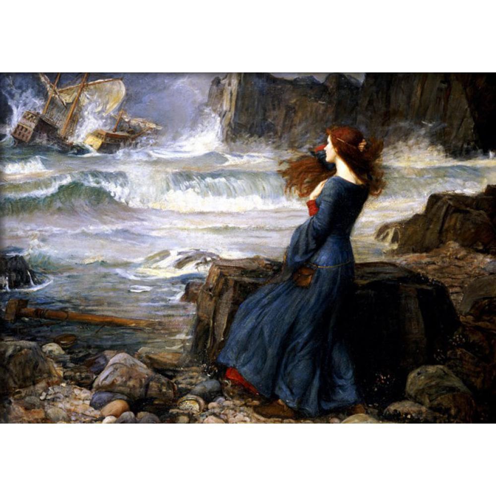 Mujer lienzo de pintura Miranda the Tempest William Adolphe Bouguereau pinturas artísticas al óleo reproducción alta calidad pintada a mano
