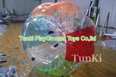 Barato y de alta calidad colorido inflable zorb ball play water game para adultos, al aire libre zorb ball rental