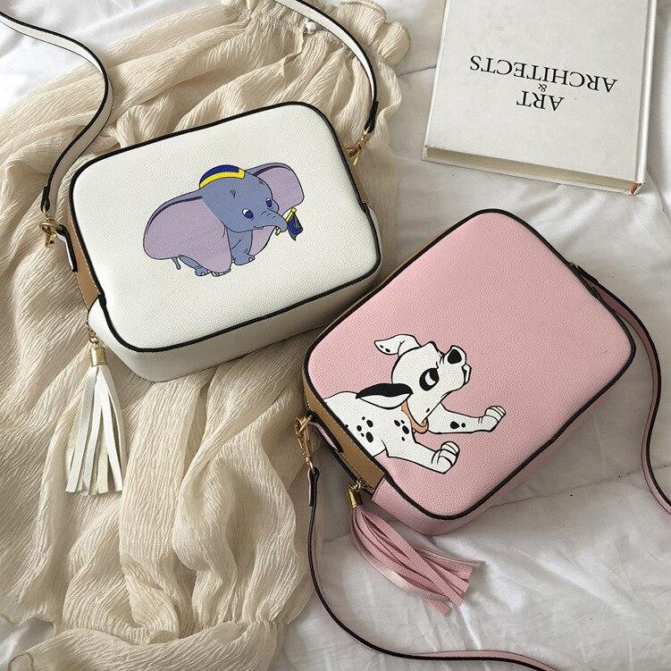 Disney Dumbo cartoon lady torba na ramię pu kobiety modna torebka mała paczka prezent torba na telefon komórkowy torebka na zakupy