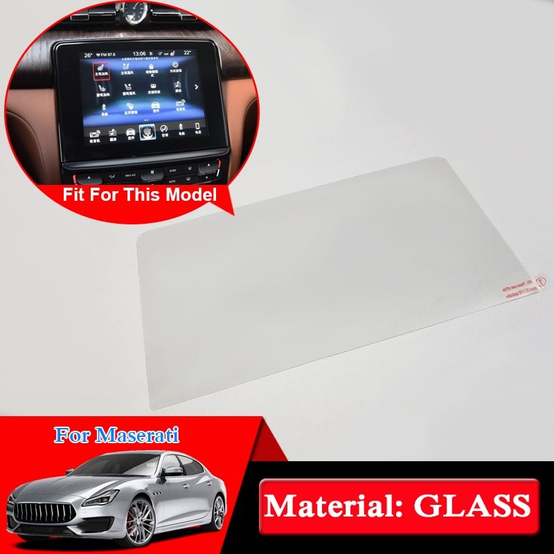 Para Maserati Quattroporte Ghibli Lavante estilo de coche de vidrio para pantalla de navegación GPS protector de vidrio película de pantalla película protectora