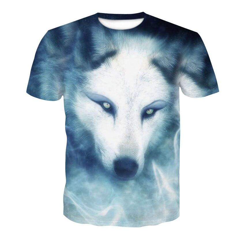 2019 frozen Wolf 3D camiseta impresa nuevo diseño top camiseta Verano de manga corta animal envío gratis