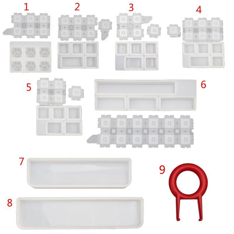 Molde mecânico do teclado do jogo dos moldes da joia computador pc gamer pet pata keycaps silicone moldes